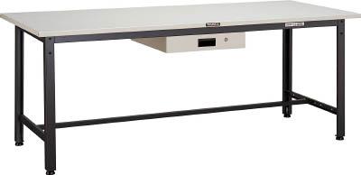 TRUSCO LEWS型作業台 1800X750XH740 薄型1段引出付 LEWS1800UDK1/1台【4545079】 【個人宅配送不可】
