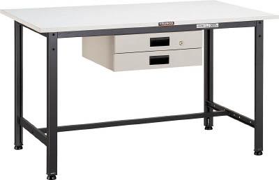 TRUSCO AE型作業台 900X600XH740 薄型2段引出付 DG色 AE0960UDK2 DG/1台【4542657】 【個人宅配送不可】