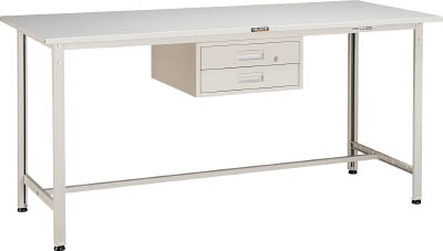 TRUSCO HSAE型立作業台 1800X900XH900 2段引出付 W色 HSAE1809F2 W/1台【4544803】