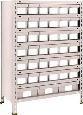 TRUSCO 軽量棚 875X450XH1200 樹脂引出NG 小X36 大X3 43X808E6F1(OP:NG)/1S【5105129】