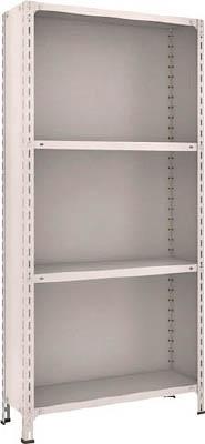 TRUSCO 軽量棚背板・側板付 W875XD300XH1800 4段 63V24(OP:NG)/1S【5039240】