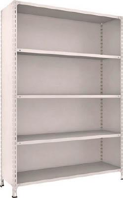 TRUSCO 軽量棚背板・側板付 W1500XD450XH2100 5段 75X25(OP:NG)/1S【5039444】