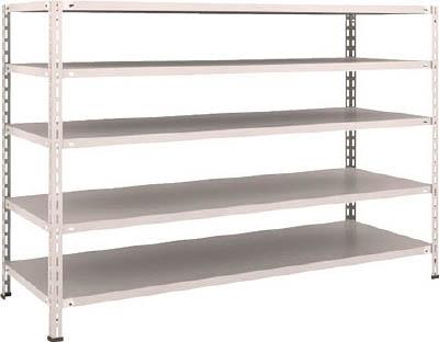 TRUSCO 軽量棚 中棚ボルトレス型 W1800XD600XH1200 5段 L46W15(OP:NG)/1S【5035481】