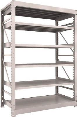 TRUSCO M10型重量棚 1500X760XH2100 6段 単体 NG M107576(OP:NG)/1S【5063400】