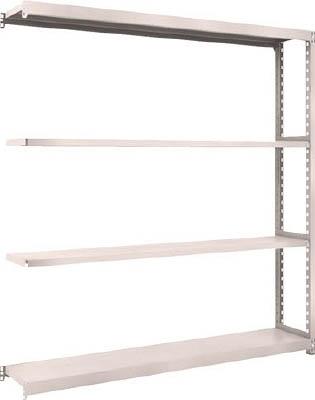 TRUSCO M2型軽中量棚 1760X300XH1800 4段 連結 NG M26634B(OP:NG)/1S【5085888】