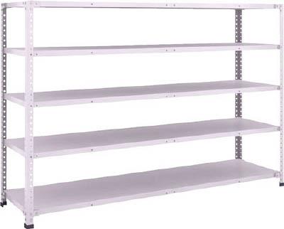 TRUSCO 軽量150型ボルトレス棚 1800X450XH1200 5段 TLA46S15/1台【2837048】
