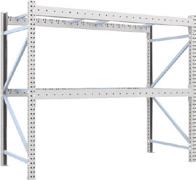 TRUSCO 重量パレット棚1トン2300×1000×H2000単体 1D20B23102/1台【4591356】【運賃別途】