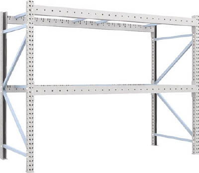 TRUSCO 重量パレット棚1トン2500×1000×H2000単体 1D20B25102/1台【4591411】【運賃別途】