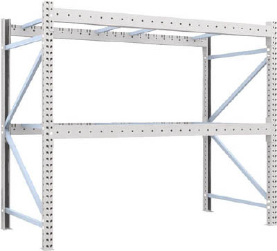 TRUSCO 重量パレット棚2トン2300×1100×H2000単体 2D20B23112/1台【4591852】【運賃別途】
