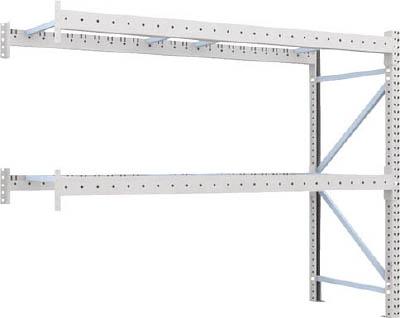 TRUSCO 重量パレット棚2トン2500×900×H2000連結 2段 2D20B25092B/1台【4591887】