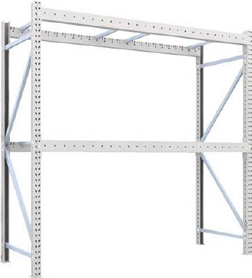 TRUSCO 重量パレット棚2トン2500×900×H2500単体 2段 2D25B25092/1台【4591992】【運賃別途】
