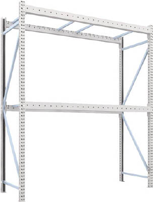 TRUSCO パレットラック2トン用2500X900XH3000 2段 単体 2D30B25092/1台【4592115】【運賃別途】