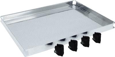 TRUSCO ステンレス製導電性ワゴン用棚板 750X450 パンチング TT32TP/1台【4628837】【運賃別途】
