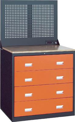 TRUSCO TWK型3ロックキャビネット 900X650 4段 Pパネル付 黒 TWK904WP/1台【4614739】【運賃別途】