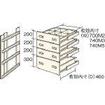 TRUSCO M2型棚用引出し 浅型3段+深型1段セット HM29004/1S【4613848】【運賃別途】