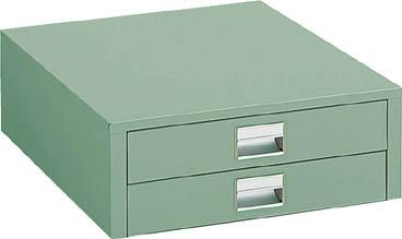 TRUSCO UDC型作業台用引出し 薄型2段 グリーン UDC002/1個【4673514】【運賃別途】