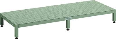 TRUSCO 高床用縞鋼板ステップ 1500X600XH190~220 UFSH1560S/1台【4673719】