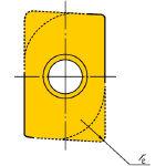 サンドビック UMaxエンドミル用チップ 235 R215.4415T308MWL(OP:235)/10個【1531093】