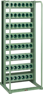 TRUSCO ツーリングラック BT・NT40兼用 56個収納 ロック付 VTL87/1台【2661373】【運賃別途】