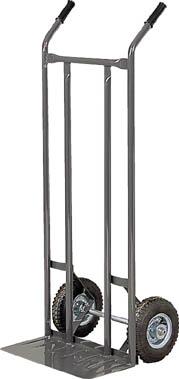 TRUSCO スチールパイプ製二輪車 H1210 すくい板205X470 3011/1台【5054931】