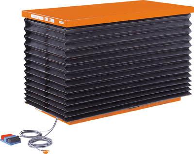 TRUSCO テーブルリフト1000kg 油圧式 750X1350 蛇腹付 HDL1000713J/1台【4642686】