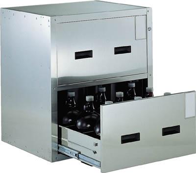 TRUSCO 耐震薬品庫 705X600XH800 2段引出型 SYW2/1台【5115621】