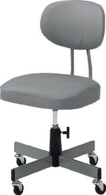 TRUSCO 事務椅子 ビニールレザー張り グレー T80/1脚【5035724】