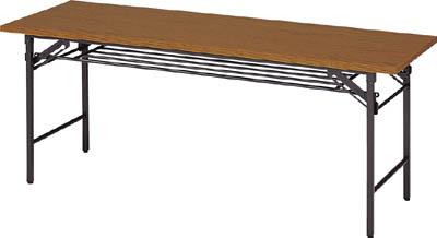 TRUSCO 折りたたみ会議テーブル 1800X600XH700 チーク 1860/1台【5072522】