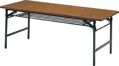 TRUSCO 折りたたみ会議テーブル 1800X750XH700 チーク 1875/1台【2417596】