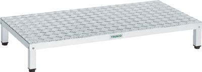 TRUSCO 高床式アルミ製ステップ 1200X600XH190~220 TFSH1260AL/1台【2775816】
