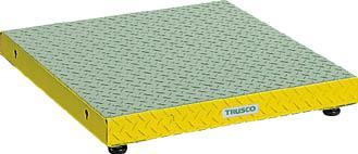 芸能人愛用 600X600XH90~120 低床用縞鋼板ステップ TRUSCO UFS0660S/1台【4673611】:タニックスショップ 店-DIY・工具