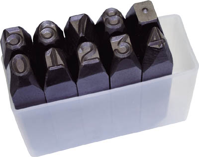 TRUSCO 逆数字刻印セット 13mm SKB130/1S【2285126】