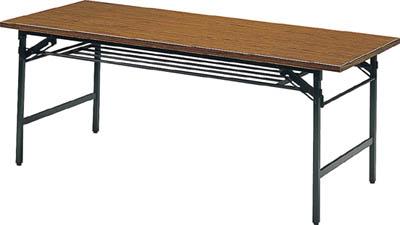TRUSCO 折りたたみ会議テーブル 1500X600XH700 チーク 1560/1台【2417561】