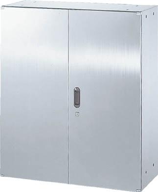 TRUSCO ステンレス保管庫(D500)両開 900XH1050 STH511/1台【5221765】