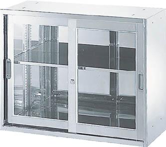 TRUSCO ステンレス保管庫(D500) 枠付ガラス扉 900XH720 STJ57/1個【5221706】