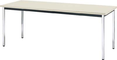 TRUSCO 会議用テーブル 1500X900XH700 角脚 下棚無し NG TDS1590(OP:NG)/1台【4646479】