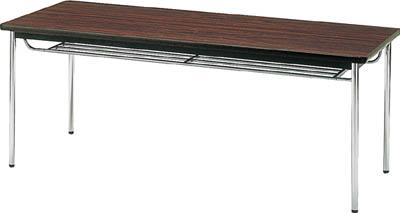 TRUSCO 会議用テーブル 1500X900XH700 丸脚 ローズ TDS1590T(OP:RO)/1台【4646487】