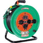 日動 電工ドラム 防雨防塵型100Vドラム アース漏電しゃ断器付 30m NWEB33/1台【1255878】