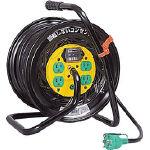 日動 電工ドラム マジックリール 100V アース漏電しゃ断器付 30m ZEB34/1台【1645129】