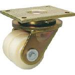 シシク 低床重荷重用双輪キャスター 自在 80径 LSDGSPO80K/1個【4660609】【運賃別途】
