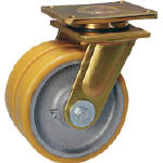 シシク まとめ買い特価 宅送 超重荷重用双輪キャスター 自在 150径 LSD-GTH150K-35 LSDGTH150K35 4660617 運賃別途 1個