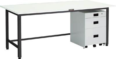 TRUSCO LEWR型作業台 1800X900XH740 3段キャビネット付 LEWR1809UDK111/1台【4671406】