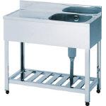 新着 1500×600×800 一槽水切シンク左水槽 アズマ HPM11500L/1台【4551991】:タニックスショップ 店-DIY・工具