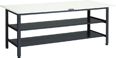 TRUSCO LEWR型作業台 1800X750XH740 全面棚2段付 LEWR1800LTW/1台【4671317】 【個人宅配送不可】