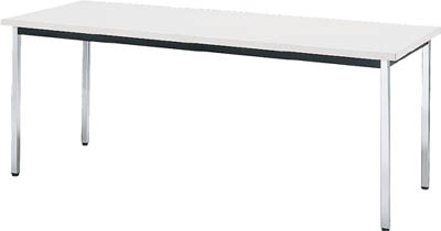 TRUSCO 会議用テーブル 1800X900XH700 角脚 下棚無 ホワイト TD1890W/1台【4646363】