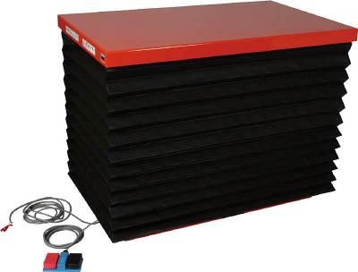 TRUSCO テーブルリフト300kg 油圧式 600X950 蛇腹付 HDL300609J/1台【4642899】