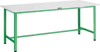 TRUSCO RAE型作業台 1800X750XH740 YG色 RAE1800 YG/1台【4672119】 【個人宅配送不可】
