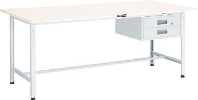 TRUSCO AE型作業台 1800X750XH740 2段引出付 W色 AE1800F2 W/1台【4667115】 【個人宅配送不可】