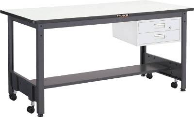TRUSCO CFWP型作業台 1800X750XH740 2段引出付 CFWP1875F2/1台【2779722】