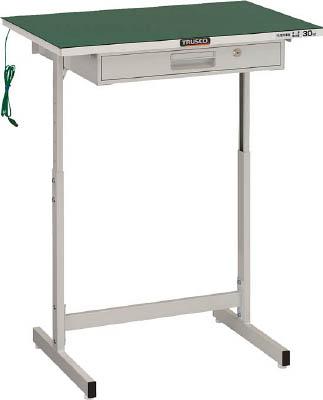 TRUSCO 導電マット張小型作業デスク 700X450 W色 VUD701NW/1台【4673816】【運賃別途】